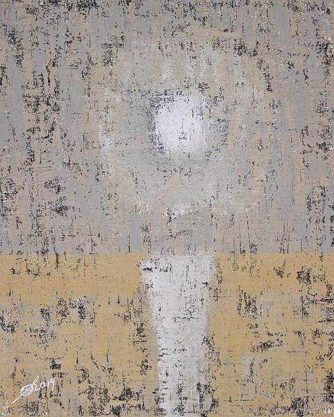 Painting - Snow Moon Original Painting by Sol Luckman