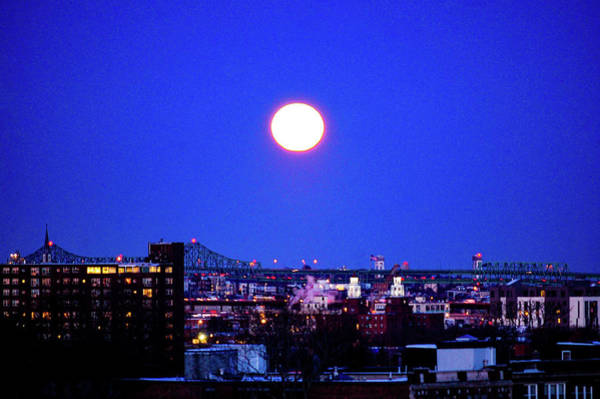 Photograph - Snow Moon Over Boston by Christina Maiorano