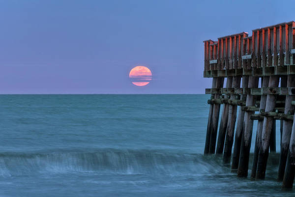 Photograph - Snow Moon by Russell Pugh