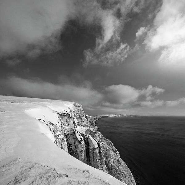 Jason Day Photograph - Snow On Highdown, Freshwater, Isle Of by S0ulsurfing - Jason Swain