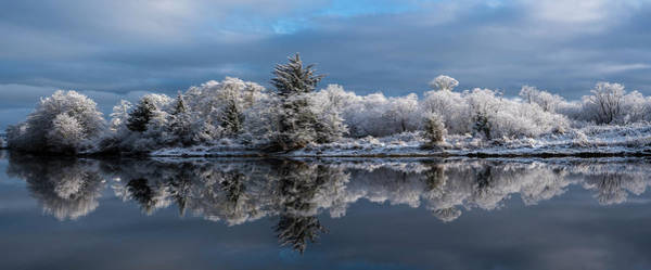 Photograph - Snow On Lewis And Clark River by Robert Potts