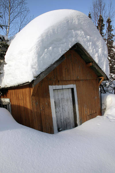 Photograph - Snow On Shed - Northern Ontario Canada by Rick Veldman