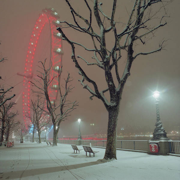 The Clock Tower Photograph - Snow On The South Bank Xl by Beholdingeye