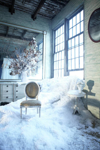 Long Island City Photograph - Snow Overflowing Through Window Into by Bill Diodato