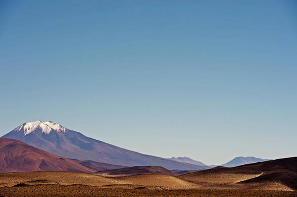 Bolivia Photograph - Snow-peaked Mountain, Bolivian Andes by James Morgan