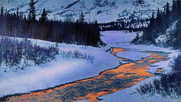 Wall Art - Digital Art - Snow River by Russ Harris