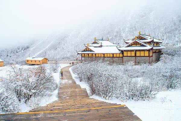 Wall Art - Photograph - Snow Season In China by Phraisohn Siripool