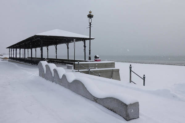 Photograph - Snow Storm On Revere Beach Revere Ma Winter by Toby McGuire