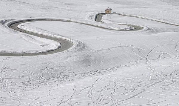 Ski Tracks Wall Art - Photograph - Snow Tracks by George Kavanagh