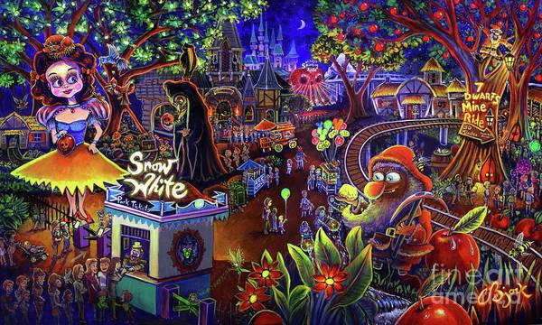 Snow White Amusement Park Art Print