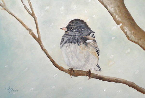 Painting - Snowbird In The Blizzard by Angeles M Pomata