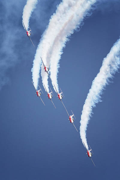 Photograph - Snowbirds Cross Formation by Randy Hall