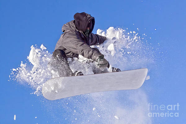 Wall Art - Photograph - Snowboarder by Picmy