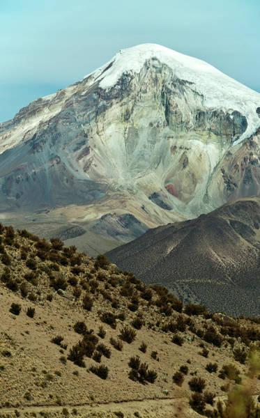 Wall Art - Photograph - Snowcapped Volcano Sajama, Sajama by Anthony Asael