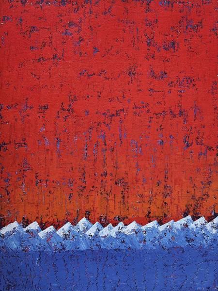 Painting - Snowcaps Original Painting by Sol Luckman