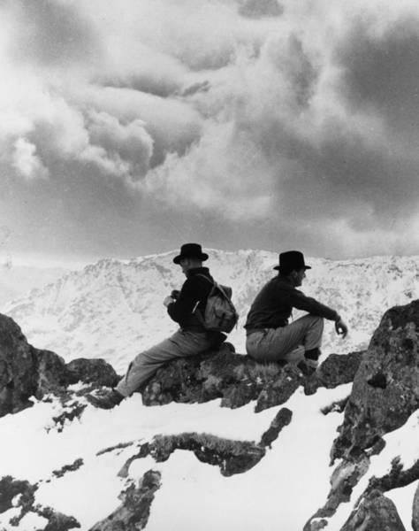 Back To Black Wall Art - Photograph - Snowdon Ridge by Fox Photos