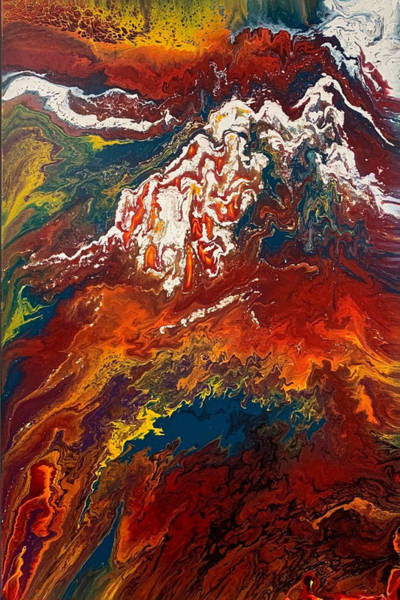 Painting - Snowfire Peaks 2 by Lon Chaffin