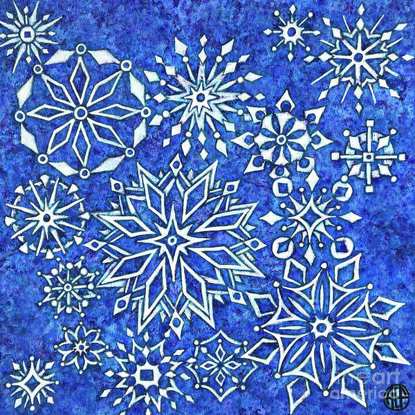 Painting - Snowflake Tapestry by Amy E Fraser