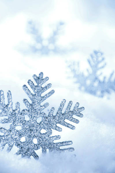 Fake Photograph - Snowflakes Background by Barcin