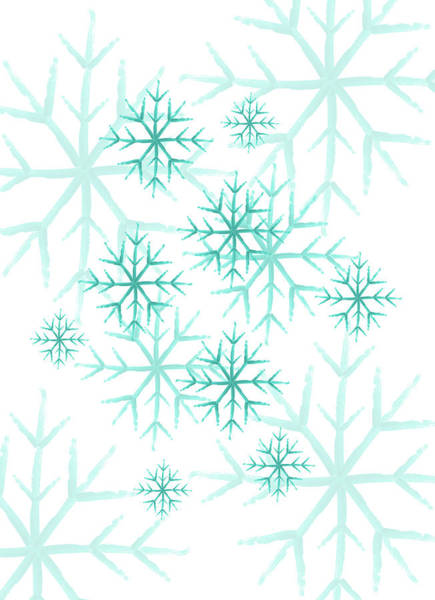 Painting - Snowflakes In Blue by Jocelyn Friis