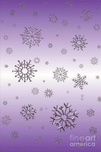 Digital Art - Snowflakes  by Rachel Hannah