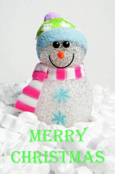Photograph - Snowman - Merry Christmas by Helen Northcott