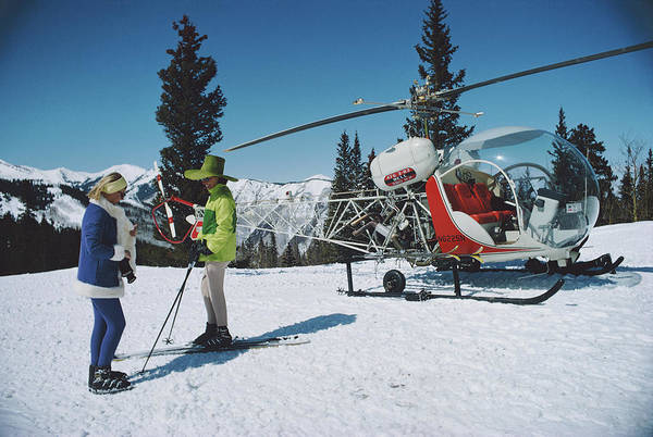 Horizontal Photograph - Snowmass Village by Slim Aarons