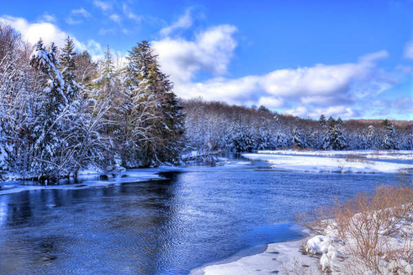Photograph - Snowy Banks Of The Moose River by David Patterson