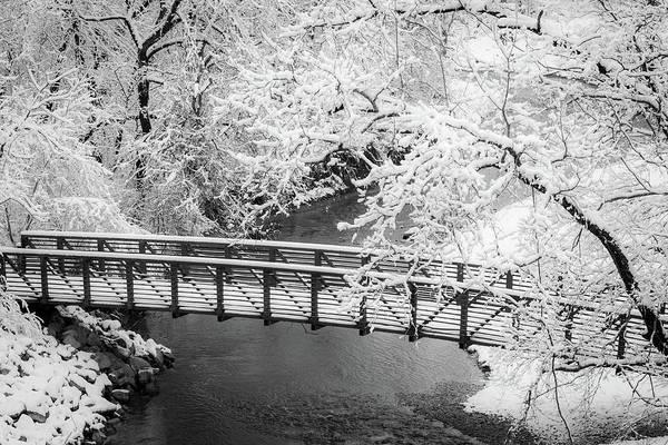 Photograph - Snowy Bridge On Mill Creek by Jeff Phillippi