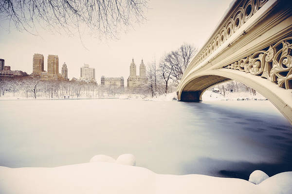 Strawberry Fields Wall Art - Photograph - Snowy Central Park New York by Ferrantraite