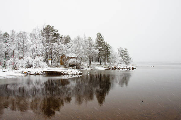 Finnish Photograph - Snowy Day At Lake Inari by Wu Swee Ong