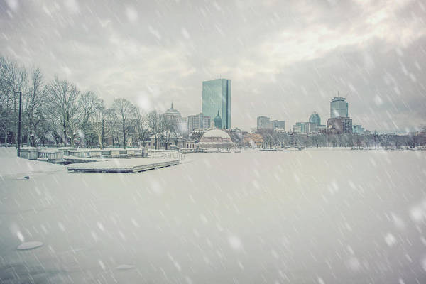 Photograph - Snowy Day On The Charles River - Boston by Joann Vitali