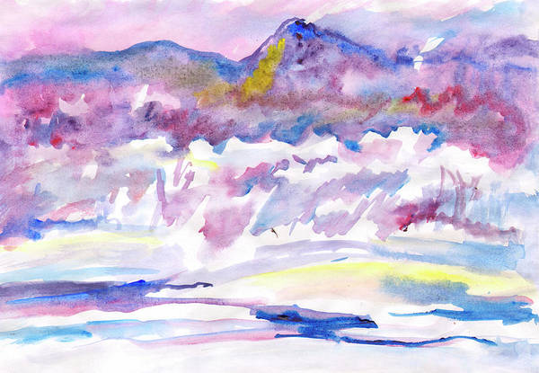 Painting - Snowy Morning On A Winter River by Irina Dobrotsvet