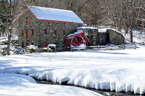 Wall Art - Photograph - Snowy Grist Mill by Luke Moore