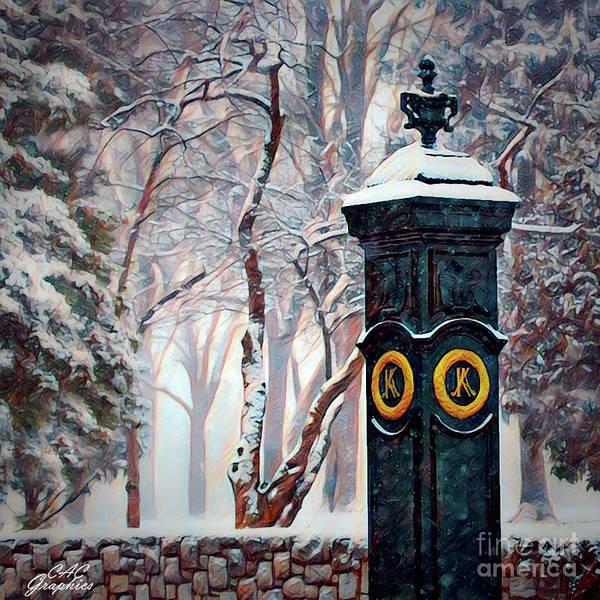 Snowy Keeneland Art Print