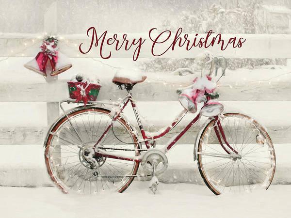Wall Art - Mixed Media - Snowy Merry Christmas by Lori Deiter