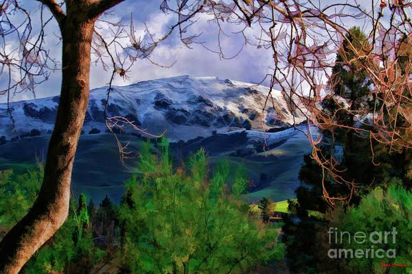 Photograph - Snowy Mission Peak Fremont Ca by Blake Richards