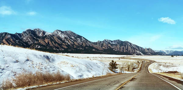 Photograph - Snowy Morning On The Flatirons by Marilyn Hunt