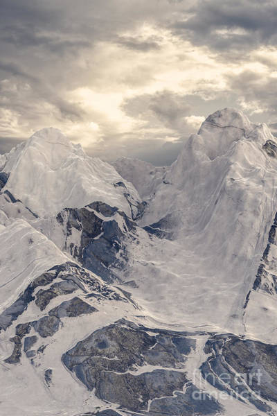 Digital Art - Snowy Mountain 001 by Clayton Bastiani