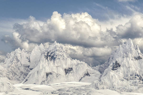 Digital Art - Snowy Mountain 002 by Clayton Bastiani