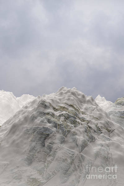 Digital Art - Snowy Mountain 005 by Clayton Bastiani