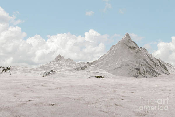 Digital Art - Snowy Mountain 007 by Clayton Bastiani
