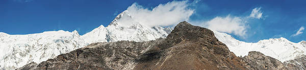 Gokyo Photograph - Snowy Mountain Summit Dramatic Glacier by Fotovoyager