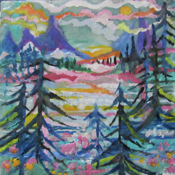 Painting - Snowy Mountain Valley by Jean Batzell Fitzgerald