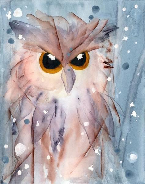 Painting - Snowy Owl by Dawn Derman