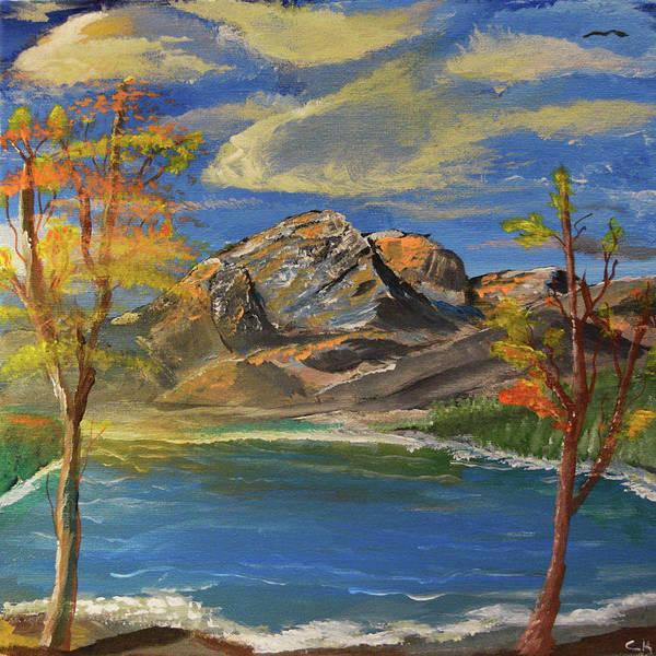 Wall Art - Painting - Snowy Range And Lake Marie by Chance Kafka