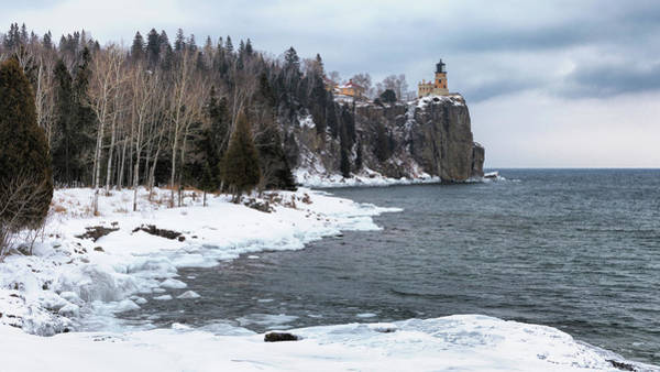 Photograph - Snowy Split Rock Lighthouse by Susan Rissi Tregoning