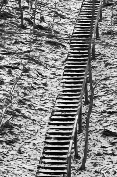 Great Lakes Region Wall Art - Digital Art - Snowy Staircase  by Phill Doherty