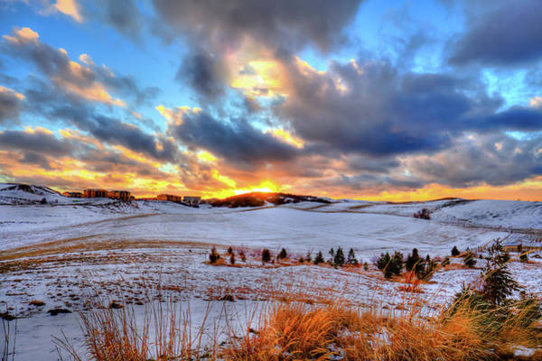 Photograph - Snowy Sunset by David Patterson