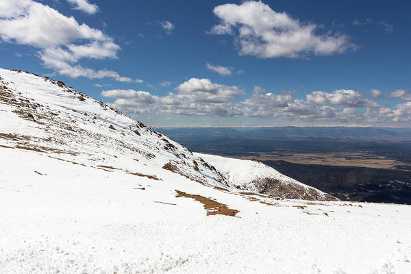 Fourteener Photograph - Snowy Top Of The World, Pikes Peak by Amy Sorvillo
